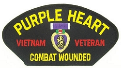 Purple Heart Vietnam Veteran Patches